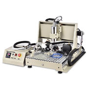 Usb 4 Axis Cnc 6040 Router Engraving Woodworking Drill/mill Machine 1.5kw + Rc