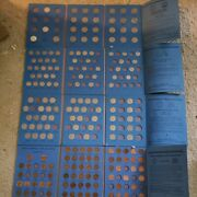 Whitman Coin Folders Set Of Pennies Nickles Dimes And Quarters