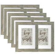 Set Of 10 Rustic 8x10 Wood Picture Frames With Real Glass / Mat 5x7 Photo Frame