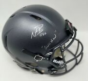 Ohio State Game Used Worn 2016 Cannonball Chic Harley Helmet Psa/dna