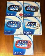 In Box Cosmic Red Blue Black Sony Playstation Ps Vita 1000 Pch-1000 Oled Import