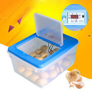 30-68x Chicke/duck/bird Egg Incubator With Temperature And Humidity Display 30w