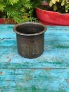 Antique Primitive Hand Carved Brass Hindu Religious Holy Water Gangajal Pot
