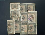Greece - Lot X 11 Half 2 1/2 Loan Notes - Variety Bank Stamps - Extremely Rare