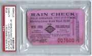 1913 World Series Game 1 Ticket Stub And039and039home Runand039and039 Baker Hr Psa