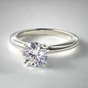 Round Cut 0.70 Ct Platinum Real Diamond Engagement Ring For Womenand039s Size 5 6 7 8