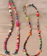 Bohemian Colorful Soft Pottery Flower Star Resin Seeds Beads Handmade Necklaces