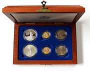 1986 Us Liberty Commemorative 6 Coin Set Silver And Gold Proof/bu Ogp W/box And Coa