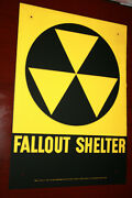 A Case Of 40 Fallout Shelter Signs Unopened Not Reproductions Free Shipping