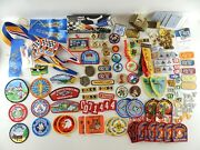 Cub And Boy Scout Big Mixed Lot Of 150+ Patches Pins Merit Badges Derby Award