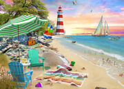 Seaside Beach - 1000pc Jigsaw Puzzle By Vermont Christmas Company New Vc1105