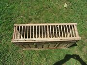 Vtg Large 35x23x9.5 Primitive Wooden Wood Chicken Crate Carrier Box Cage Coop