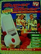 Vintage Super Slicer/waffle Cutter Original As Seen On Tv 5 Machines In 1 +video