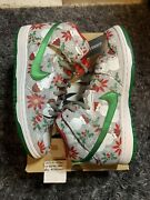 Nike Sb Dunk High Ugly Christmas Sweater Concepts Size 9 Skateboarding Used Vnds