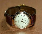 Vintage Tourneau 18k Rose Gold 32 Mm Brushed Gray Dial Mechanical Watch [061wei]