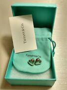 Genuine And Co. Vintage Sterling Silver Puffed Heart Earrings Mexico Rare