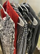 Cabi Womens Lot Of 6- Tops Blouse Dress Jacket Size Large
