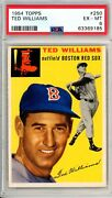 1954 Topps Ted Williams 250 Psa Grade 6 Ex-mt Cond @hi-end Investment Grade