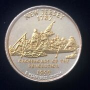 1999 New Jersey Gold And Silver Highlighted Statehood Quarters Collection Pcs
