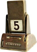 Perfect Table Calendar Vintage Old Brass Markers Office Supplies