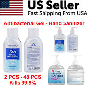 6 - 48 Pack Hand Sanitizer Gel 75 Alcohol Meets Who/cdc Standards Scent Free