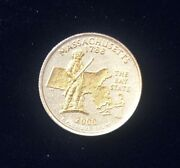 2000 Massachusetts Gold And Silver Highlighted Statehood Quarters Collection Pcs