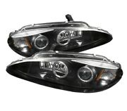 For Dodge 1998-2004 Intrepid Black Led Halo Projector Headlights Head Lamps Pair