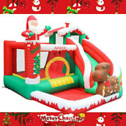 Christmas Inflatable Bouncer House With Air Blower And Jumping Castle With Slide