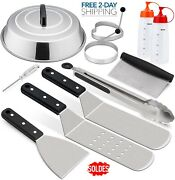 Blackstone Grill Accessories Kit 10-pcs Griddle Barbecue Tools Set Bbq Outdoor