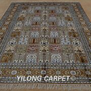 Yilong 6and039x9and039 Handknotted Silk Rug Four Seasons Indoor Living Room Carpet 1220