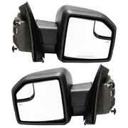 Black Power Heated Pair Mirrors+led Turn Signal Lights For Ford 2015-2018 F150