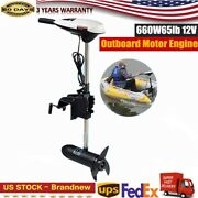 65and039 Lbs Electric Thrust Trolling Outboard Motor Fishing Boat Engine Motor Us New
