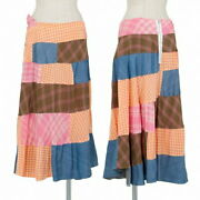 Tricocom Des Garçons Tricot Comme Garcons Patchwork Helical Switching Skirt Of