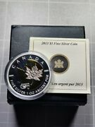 Canada 2013 25th Anniversary 5 1 Oz Silver Maple Leaf Gold Plating In Full Ogp