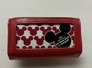 Vintage Red Leather Disney Mickey Mouse Credit Card Wallet