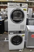 Fisher Paykel De4024p1-wh2424f1 24 White Washer/electric Dryer Set 111337-38