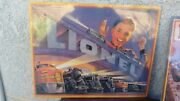 New Tin Lionel Train Sign Catalog Cover 1952 Reproduction 90s Sealed 14x11''