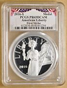 2016 S American Liberty 1oz Silver Medal And039first Strikeand039 Pcgs Pr69dcam