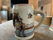World Famous Budweiser Clydesdale Parade Dress Beer Stein