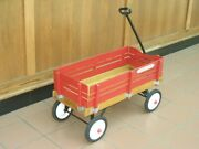 Vintage Radio Flyer Town And Country Wooden Wagon 3 Feet Long