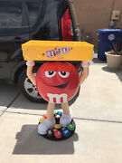 Vtg Mandm Red Character Candy Store Display With Storage Tray Pickup Only Abq Nm