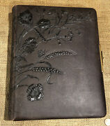 Antique Victorian Cabinet Card Cdv Leather Photo Album Brass Clasp Exceptional