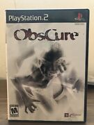 Obscure For Playstation 2 Ps2. Complete With Manual Rare Tested