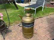 Antique Jabez Burns And Sons Brass Coffee Or Tea Urn Kettle