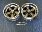 Vintage Pair Of American Racing Daisy Style Wheels 15x8.5 Chevy 5 On 4 3/4
