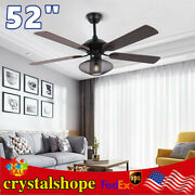 52 Farmhouse Ceiling Fan With Light Remote Control 3 Speed Reversible Blades