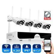 Cctv System Wireless Surveillance System Kit 3mp Home Security Camera System Out