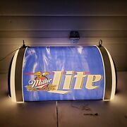 New Miller Lite Hanging Light With Chain For Man Cave Beer Poker Pool Free Ship