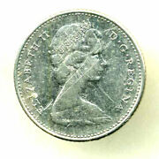 1968 10 Cent Canada Clad Canadian Dime Ten Cents Coin 3412