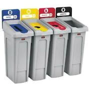 Slim Jim Recycling Station Kit 92 Gal 4-stream Landfill/paper/plastic/cans